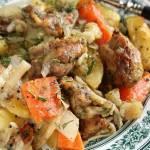 Jednogarnkowe: kurczak pieczony z warzywami