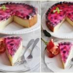 Sernik pieczony z owocami i galaretką
