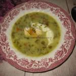 Zupa szczawiowa z jajkiem w koszulce