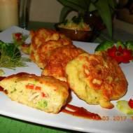 Placuszki z rybą i warzywami