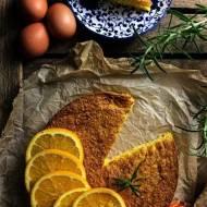 BEZGLUTENOWE ciasto pomarańczowe z kokosem i rozmarynem