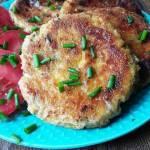 Kotlety z ziemniaków z pieczarkami i serem