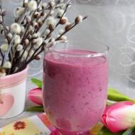 Koktajl jogurtowo-porzeczkowy z siemieniem lnianym