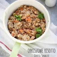 Orkiszowe risotto z białą kiełbasą