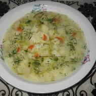 Zupa ogórkowa z porem, ryżem i ziemniakami