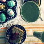 Zielony kisiel z siemienia lnianego i mermaid toast