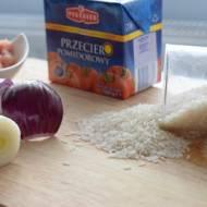Przepis #9 Klopsiki drobiowo-porowe w sosie pomidorowym podawane z ryżem