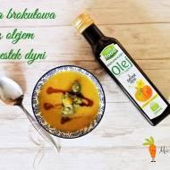 Zupa brokułowa z olejem z pestek dyni