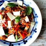 Warzywa po azjatycku z serem korycińskim