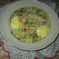 Zupa chrzanowa z jajkami i zrazami