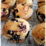 Bezjajeczne muffiny orkiszowe z jagodami
