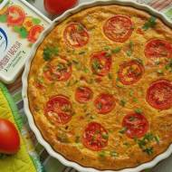Frittata z bobem i pomidorami