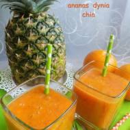 Koktajl pomarańcza marchew ananas dynia chia