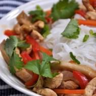 Kurczak z boczniakami po chińsku
