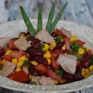 Sałatka z kukurydzą, fasolą i tuńczykiem