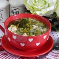 Zupa warzywna z brokułami mielonym mięsem i ryżem