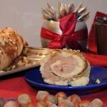 Rolada biszkoptowa z kremem czekoladowym i orzechami laskowymi