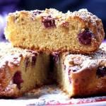 Ucierane szybkie ciasto z wiśniami bez białego cukru i margaryny