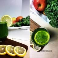 Zielony sok z jarmużu i ogórka
