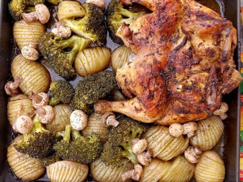 Przepis Na Pieczony Kurczak Z Warzywami I Pieczarkami Moniki