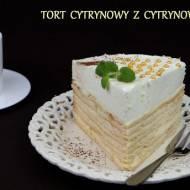 Wiosenny tort cytrynowy z cytrynową pianką... na przywitanie wiosny