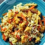 Kurczak z kuskusem i warzywami chińskimi