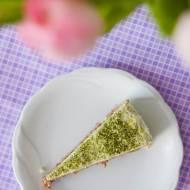 Lekki tort orkiszowy z karobem i kremem cytrynowym (bez cukru)