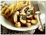 Lekki obiad - grillowana pierś nadziana szpinakiem i...