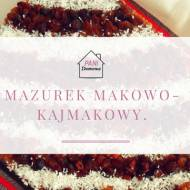 Mazurek makowo- kajmakowy.