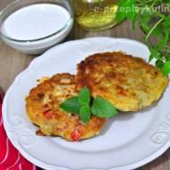 Obiad na szybko – placuszki z szynką i papryką