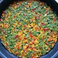 Obiadowy omlet z kurczakiem