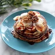 Owsiane pancake, bezglutenowe, z bananem
