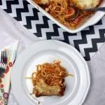 Zapiekanka spaghetti z mozzarellą