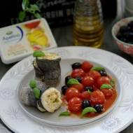 Roladki z pstrąga z kremowym serkiem i pomidorami