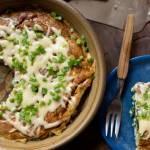 Tortilla hiszpańska z serem feta