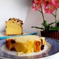Ciasto drożdżowe z żurawiną i ananasem .