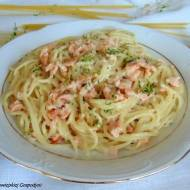 Spaghetti z sosem łososiowym