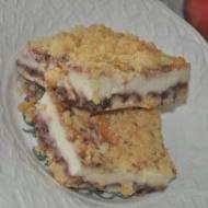 smakowite ciasto z malinami  z jogurtu greckiego