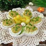 Jajka faszerowane pastą warzywną