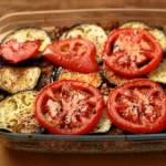 Kasza gryczana z bakłażanem i pomidorami