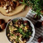Quinoa z grzybami pioppino i kasztanami
