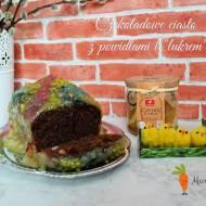 Czekoladowe ciasto z powidłami i