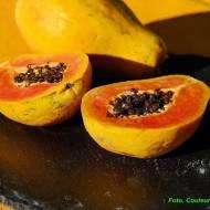 Koktajl z papają i miodem.