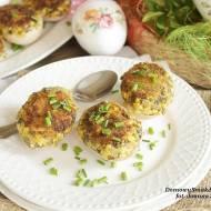farsz jajeczno pieczarkowy w skorupkach