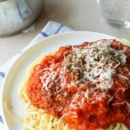 wegetariańskie spaghetti z soczewicą
