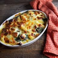 Zapiekanka z brokułami i serem korycińskim