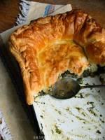 pot pie pod ciastem francuskim