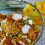 Sałatka z kurczakiem w płatkach kukurydzianych – test produktów firmy Jamar