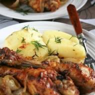 Kurczak w marynacie musztardowej (pieczony)
