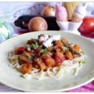 Spaghetti z dynią piżmową i cukinią